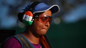 Shreyasi SIngh was the only member of the Indian shotgun team to get a gold medal at the 2018 Commonwealth Games.(AFP)