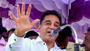 Unlike the conventional political campaign techniques involving theatrics, blame games and lofty promises, Mr Haasan's approach, till now, has been to involve the people and 'awaken' the aam aadmi about her rights(PTI)