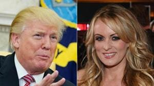 Stormy Daniels says she and US President Donald Trump had an affair, starting 2006. Trump strongly denies the allegation.(AFP/File Photo)