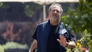 Hollywood film producer Harvey Weinstein of The Weinstein Company gestures during a break on the first day of the Allen and Co. media conference in Sun Valley, Idaho July 9, 2014. REUTERS/Rick Wilking(Reuters File Photo)