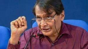 """Civil Aviation minister Suresh Prabhu said the government will now """"work towards creating the license framework"""" for a special category of service providers called 'In-flight' connectivity provider.(PTI)"""