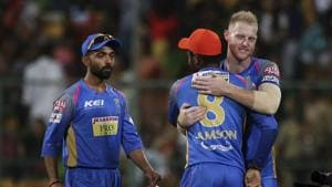 Rajasthan Royals' Ben Stokes (R) has been struggling for form in IPL 2018.(AP)