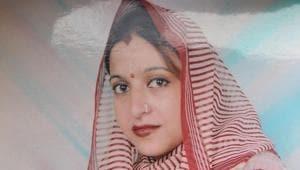 File photo of Kiran Bala who married a Pakistani(HT Photo)