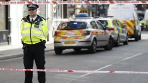 Police stand by a cordon near Parsons Green subway station in London.(AP File Photo)