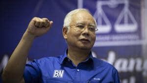 Malaysia's Prime Minister Najib Razak attends an election champaign in Kuala Lumpur, Malaysia.(AP Photo)