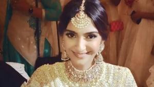 Sonam Kapoor during her choora ceremony.(Instagram)