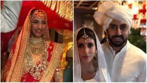 Sonam Kapoor arrives for her wedding and Shweta Nanda and Abhishek Bachchan join the festivities.(Instagram)