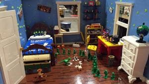 A Lego-created scene from the movie Toy Story at last year's convention.(AP)