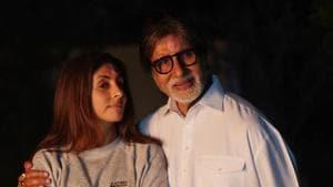 Shweta Bachchan Nanda with Amitabh Bachchan.(Instagram)