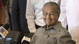 Mahathir Mohamad during a press conference in Kuala Lumpur, Malaysia on Thursday.(AP Photo)