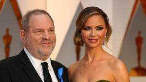 Harvey Weinstein and wife Georgina Chapman arrive at the 89th Academy Awards in Hollywood, California.(REUTERS)