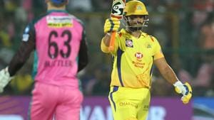 Suresh Raina scored a fifty for Chennai Super Kings during their Indian Premier League match against Rajasthan Royals on Friday.(BCCI)
