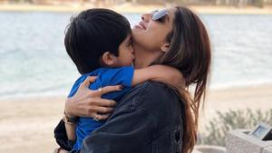 Shilpa Shetty shared this picture with her son on her Instagram page.