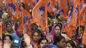 The Bharatiya Mazdoor Sangh has demanded the creation of a separate ministry of social security, pointing out that four ministries now handle issues related to about 490 million workers.(HT/File Photo)