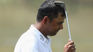 Anirban Lahiri's missed par-putt on eighth saw him drop his first bogey on the day, which followed a bogey on Par-5 ninth. Then came a three-putt on 10th and that ruined the day and the round for him at the Players Championship golf tournament.(Getty Images)