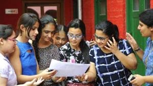 Around 81,000 students appeared for ISC exams and around 1.84 lakh students took the ICSE board exams.(HT File)