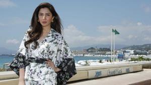 Pakistani actor Mahira Khan poses on the Croisette.(REUTERS)