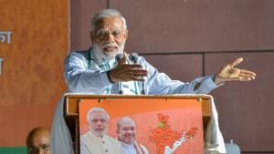 Narendra Modi (@narendramodi) emerged as the most mentioned personality during the course of Karnataka elections on Twitter.(PTI)