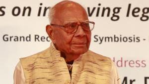 Senior lawyer Ram Jethmalani(HT FIle Photo)