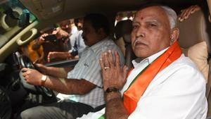 The Supreme Court issued notices to the Karnataka government and Yeddyurappa seeking their replies on the plea filed by the Congress-JD(S) combine and posted the matter for hearing on Friday.(Arijit Sen/HT Photo)