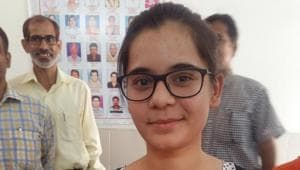 Haryana board HBSE 12th result 2018: Heena, who uses only one name, got first position in the Haryana board Class 12 result with 98.2% marks.(Handout image)