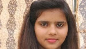 Gurmeet, the daughter of a farmer from Haryana's Jind district, was on Friday declared as the topper in the humanities stream of the Haryana Board 2018 board examinations.(Handout image)