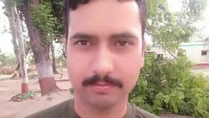 BSF constable Sita Ram Upadhyay who was killed in Pakistani fire on Friday morning. Upadhyay had joined the force in 2011.(ANI/Twitter)