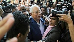 Najib Razak, Malaysia's former prime minister, arrives at the Malaysian Anti-Corruption Commission's headquarters in Putrajaya, Malaysia, on May 22, 2018.(Bloomberg)