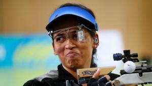 Tejaswini Sawant has started his ISSF World Cup campaign on a bright note.(REUTERS)