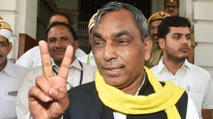 "Suheldev Bhartiya Samaj Party leader and NDA partner Om Prakash Rajbhar had on Sunday said that those attending rallies of his political rivals will be ""cursed"" with jaundice.(PTI/File Photo)"
