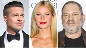 Brad Pitt confronted Harvey Weinstein at a Broadway show in 1995 for harassing his then-girlfriend Gwyneth Paltrow.(Shutterstock images)