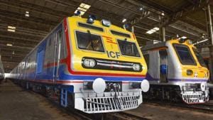 The first AC local train in Mumbai has received a positive feedback from commuters.(HT File)