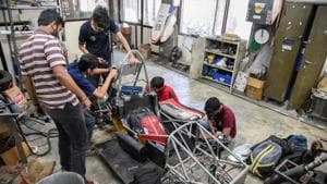 College of engineering, Pune, also houses the Bhau institute of innovation, entrepreneurship and leadership, which has been incubating a number of young entrepreneurs in the field of robotics education and industrial automation.(HT File Photo)