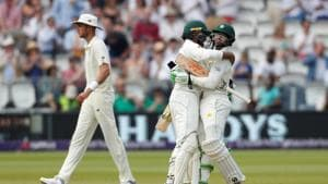 Pakistan beat England by nine wickets in Lord's Test to go 1-0 up in the two-match series. Follow full cricket score of England vs Pakistan, 1st Test, here(REUTERS)