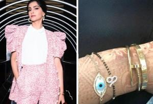 Sonam Kapoor Ahuja's mangalsutra was designed by the actor herself. (Twitter)