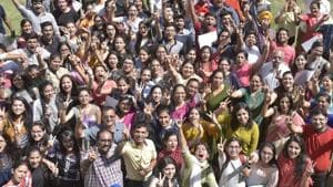 CBSE 10th result: Of the 16,38,428 candidates who registered for the exam, 2,89,958 are from Delhi. Panchkula comes next with 2,42,906 registered candidates.(HT file)