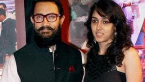 Aamir Khan with daughter Ira. The family was in Coonoor to celebrate Mansoor Khan's 60th birthday.