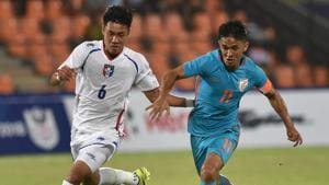 India take on Kenya in the next match of the Intercontinental Cup 2018 in Mumbai on Sunday.(PTI)