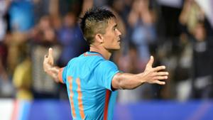 Sunil Chhetri's heartfelt appeal to fans asking them to come and support the Indian football team in the stadium worked a treat, but coach Stephen Constantine didn't seem a fan of the tactic.(PTI)