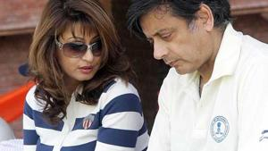 The Delhi Police had on May 14 accused Shashi Tharoor, the Lok Sabha MP from Thiruvananthapuram, of abetting hsi wife Sunanda Pushkar's suicide.(HT File Photo)