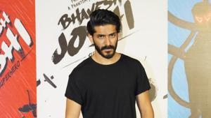 Actor Harshvardhan Kapoor at the trailer launch of Bhavesh Joshi Superhero in Mumbai.(IANS)