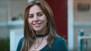 Lady Gaga plays an unconfident singer in A Star Is Born.
