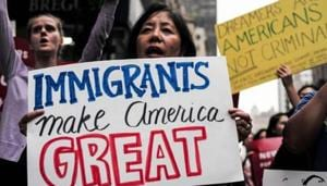 Indian-Americans, most of whom are highly skilled and come to the US mainly on H-1B work visas, are the worst sufferers of the current immigration system which imposes a 7% per country quota on allotment of green cards or permanent legal residency.(AFP/File Photo)