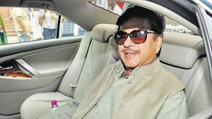 """Shatrughan Sinha, who has been at odds with the BJP's central leadership, said that a government cannot be run on """"jumlebaji"""".(HT File Photo)"""