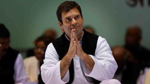 Congress President Rahul Gandhi at party office in New Delhi.(Reuters File Photo)