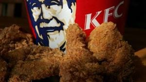 This venture is in an attempt to join the healthier food trend by testing 'vegetarian fried chicken' with its signature blend of 11 herbs and spices.(AFP)