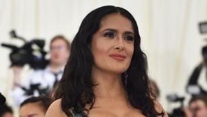 Salma Hayek appeared as the lead actor in the Hollywood film Frida in 2002.(AFP)