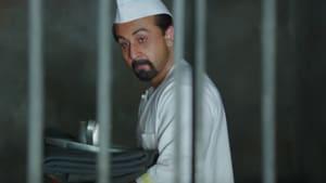 Ranbir Kapoor as Sanjay Dutt in a still from Sanju.(YouTube)