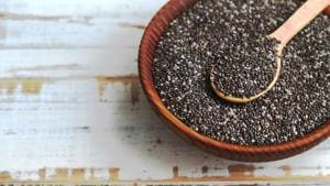 Chia seeds are rich in fibre, omega-3 fatty acids and alpha-linoleic acid.(Shutterstock)