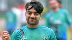 While there's no doubt that Rashid Khan has been excellent in limited-overs, his effectiveness with the red ball over five days is still to be tested.(AFP)